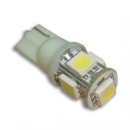 T10, 12 V LED-polttimo, 5 superflux lediä
